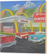 The Golden Age Of The Golden Arches Wood Print