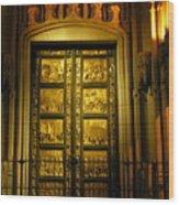 The Golden Door Wood Print