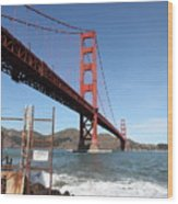 The Golden Gate Bridge At Fort Point - 5d21473 Wood Print