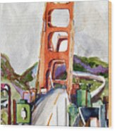 The Golden Gate Bridge San Francisco Wood Print