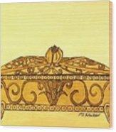 The Golden Jewelry Box Wood Print