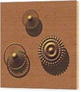 The Golden Ones Wood Print