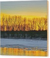 The Golden Pond Wood Print