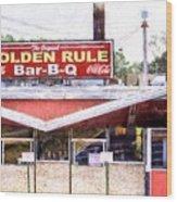 The Golden Rule Bbq In Birmingham Wood Print