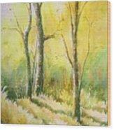 The Golden Trio Wood Print