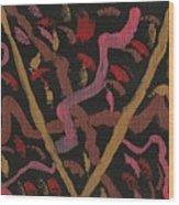 The Golden V Wood Print