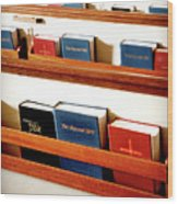 The Good Books Wood Print
