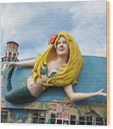 The Good Mermaid Wood Print