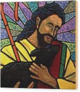 The Good Shepherd - Practice Painting One Wood Print by Jim Harris