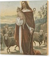 The Good Shepherd Wood Print by John Lawson
