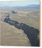 The Gorge Bridge In Taos Wood Print