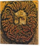 The Gorgon Man Celtic Snake Head Wood Print