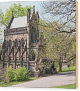 The Gothic Temple In Spring Grove Cemetery Wood Print