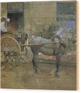 The Governess Cart Wood Print