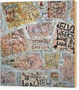 The Graceland Graffiti Wall Wood Print