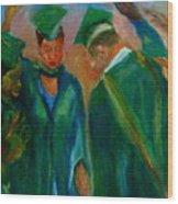 The Graduates Wood Print