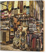 The Grand Bazaar In Istanbul Turkey Wood Print by David Smith