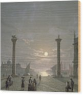 The Grand Canal From Piazza San Marco Wood Print