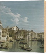 The Grand Canal In Venice From Palazzo Flangini To Campo San Marcuola Wood Print
