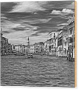 The Grand Canal - Paint Bw Wood Print