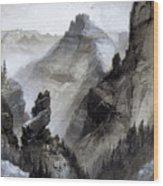 The Grand Canyon Drawing            Wood Print