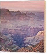 The Grand Canyon  South Rim At Dusk Wood Print by Ryan Kelly