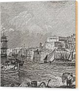 The Grand Harbour, Valetta, Malta After Wood Print