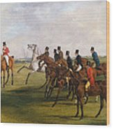 The Grand Leicestershire Steeplechase, March 12, 1829  The Start Wood Print