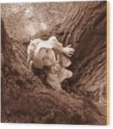 The Grand Oak Wood Print by Catherine Natalia  Roche
