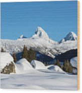 The  Grand Tetons From Alta Wyoming Wood Print