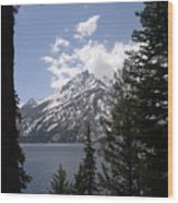 The Grand Tetons Lake Wood Print