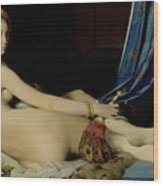 The Grande Odalisque Wood Print by Ingres