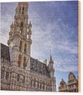 The Grandeur Of The Grand Place Brussels  Wood Print