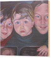 The Grandkids Wood Print