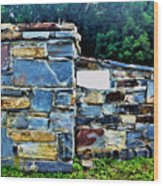 The Grateful Stone Wall Wood Print