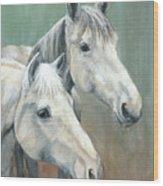 The Grays - Horses Wood Print