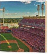 The Great American Ball Park - Cincinnati Wood Print