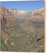 The Great Canyon Of Zion Wood Print
