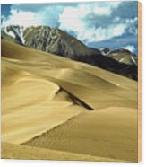 The Great Colorado Sand Dunes Color Print Wood Print