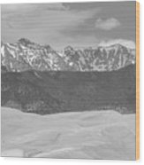 The Great Colorado Sand Dunes  Wood Print