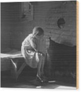 The Great Depression. Young Girl Wood Print by Everett