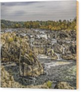 The Great Falls Of The Potomac Wood Print