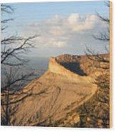 The Great Mesa Wood Print