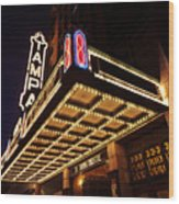 The Great Movie Marquee Wood Print