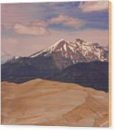 The Great Sand Dunes And Sangre De Cristo Mountains Wood Print