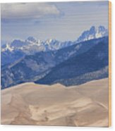 The Great Sand Dunes Color Print 45 Wood Print