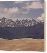 The Great Sand Dunes Panorama 1 Wood Print