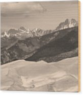 The Great Sand Dunes Sepia Print 45 Wood Print by James BO  Insogna