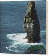 The Great Sea Stack Brananmore Cliffs Of Moher Ireland Wood Print