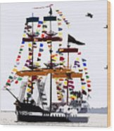 The Great Ship Gasparilla Wood Print